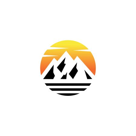mountain logo vector design emblem Illustration