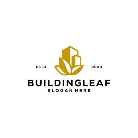 building leaf logo design vector Logo