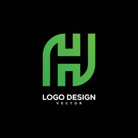 initial H logo design vector