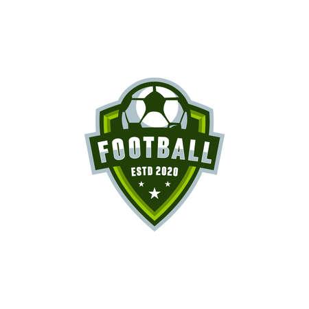 football shield logo vector