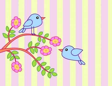 Bird cartoon background