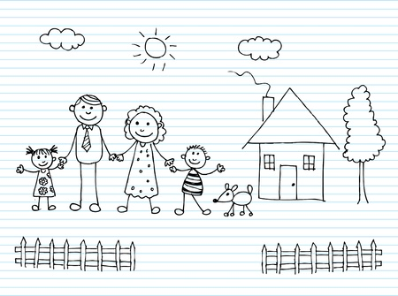 family home: Happy family holding hands