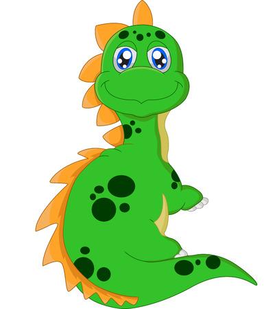 posing: Cartoon dinosaur posing Illustration