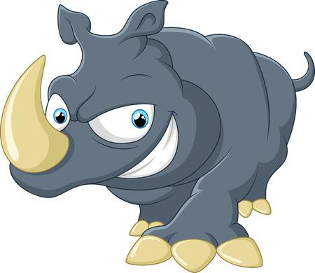 huggable: Cute Rhino cartoon Illustration