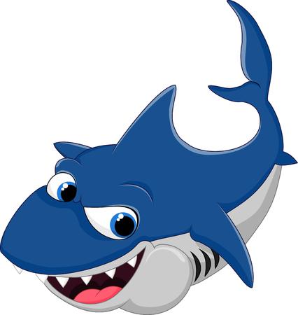 tiburon caricatura: Cartoon shark