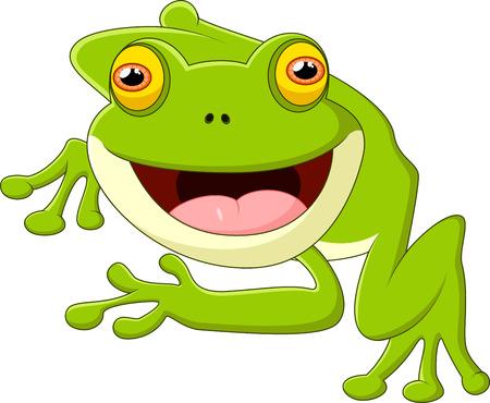 leapfrog: Happy cartoon frog Illustration