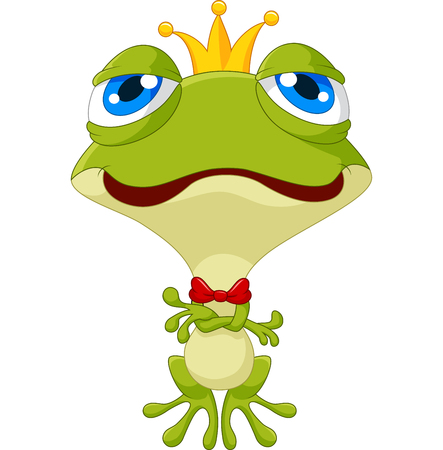 croaking: Cute king frog posing