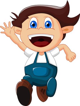 gesturing: cartoon little boy gesturing on white background