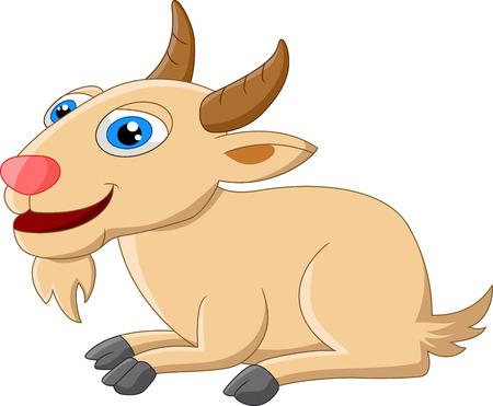 posing: Cute goat cartoon posing