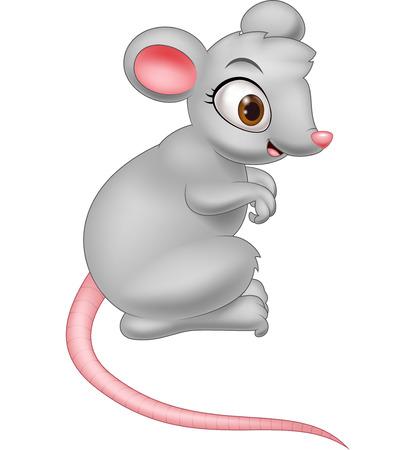 rata caricatura: Feliz de la historieta del ratón