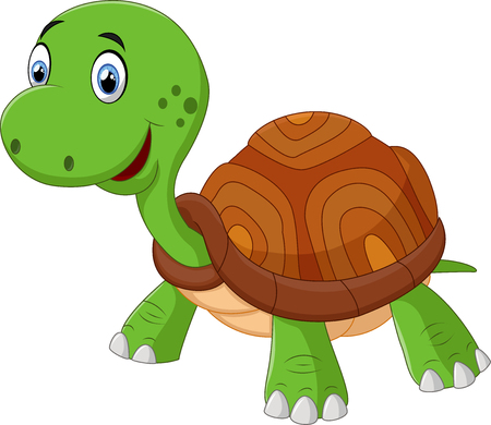 turtle isolated: Cute cartoon turtle, isolated on white Illustration