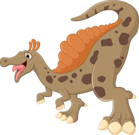 Illustration of dinosaur posing Vectores
