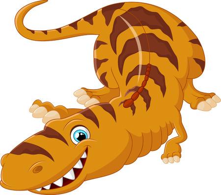 Cartoon Tyrannosaurus lie down