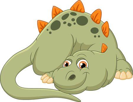 smirking: cute dinosaur cartoon