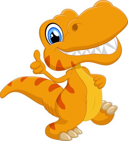 dinosaurio caricatura: Historieta linda del dinosaurio