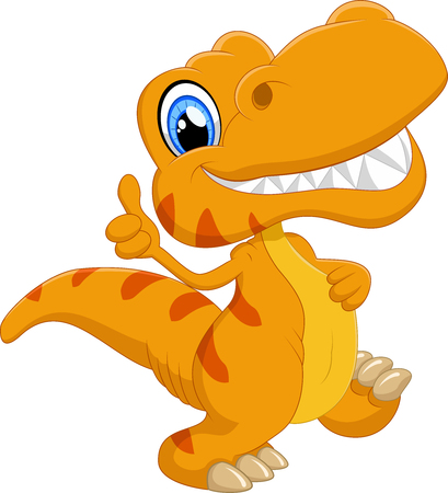 Leuke cartoon dinosaurus