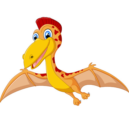 pterodactyl: Happy pterodactyl cartoon illustration Illustration