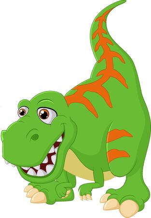 tyrannosaurus: Cartoon happy tyrannosaurus illustration