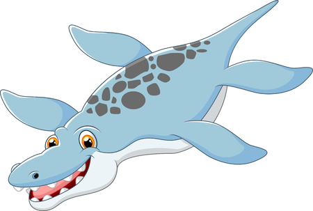 Cartoon happy Liopleurodon