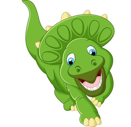 petrifying: Cute triceratops cartoon illustration