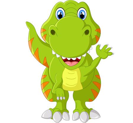 Cartoon happy tyrannosaurus illustration