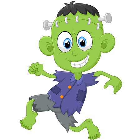 cartoon frankenstein: Cartoon Frankenstein kid