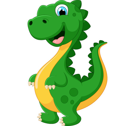 tyrannosaurus: Cartoon happy tyrannosaurus illustration