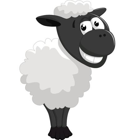posing: Cartoon sheep posing