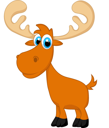 zoological: Funny baby moose cartoon