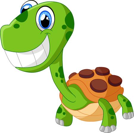 Happy cartoon turtle Stock Photo