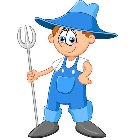 overall: Cartoon farmer illustration