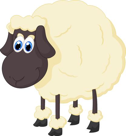 bushy: Cartoon adorable sheep