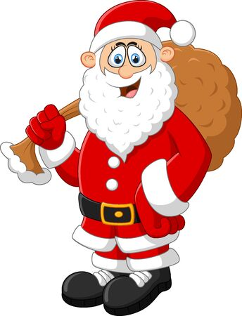 fluffy tuft: Santa holding sack Stock Photo