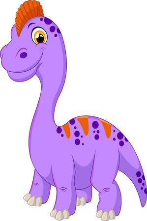 stegosaurus: Bebé feliz de dibujos animados estegosaurio