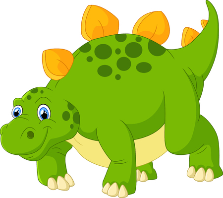 stegosaurus: Cute stegosaurus cartoon Foto de archivo