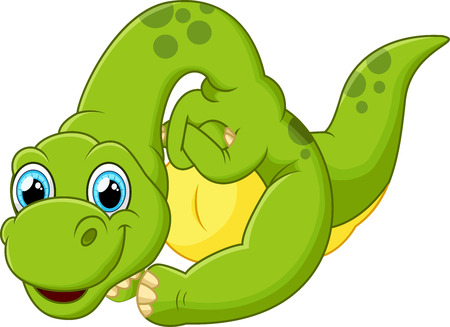 cute animal: Cute dinosaur cartoon