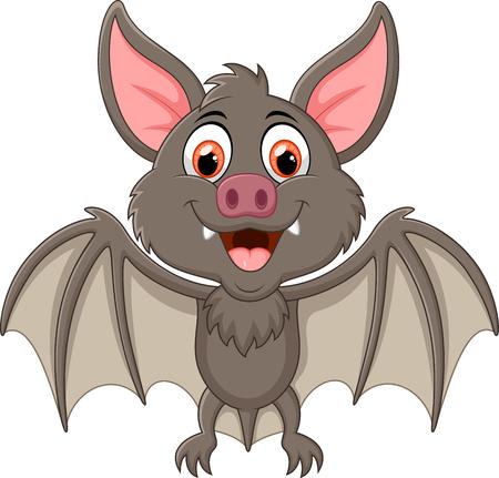 vampire bat: Happy Vampire Bat Cartoon Character Flying Stock Photo