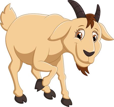 macho cabrio: Personaje de dibujos animados de cabra Foto de archivo
