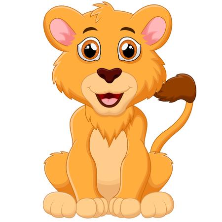 lion baby: Cute baby lion cartoon