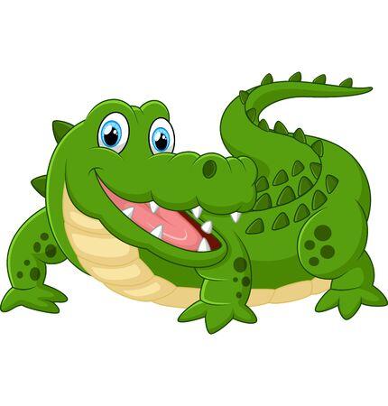 durable: illustration of cute crocodile