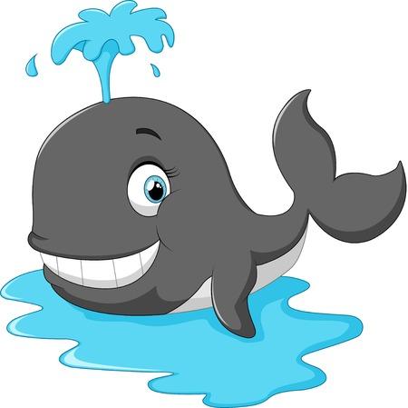 cetacean: Happy cartoon whale