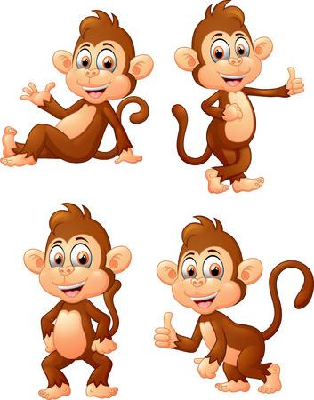 illustration of monkey many expressions Stockfoto