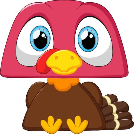 cute: Cute turkey cartoon