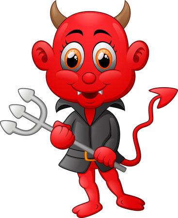 lucifer: Red devil cartoon