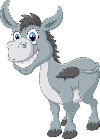 donkey: cartoon donkey smile and happy