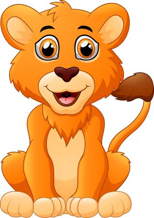 cachorro: pequeña historieta del león Vectores