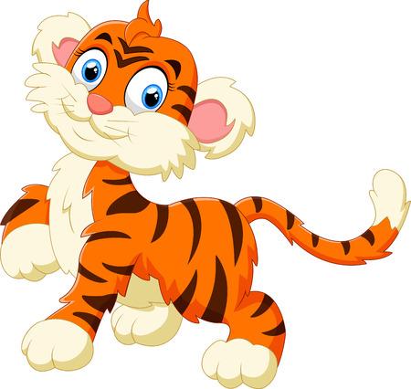 cute: pequeña historieta linda del tigre