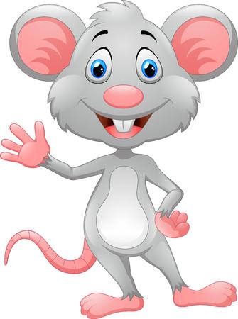 Niedlichen Cartoon-Maus Standard-Bild - 46818905