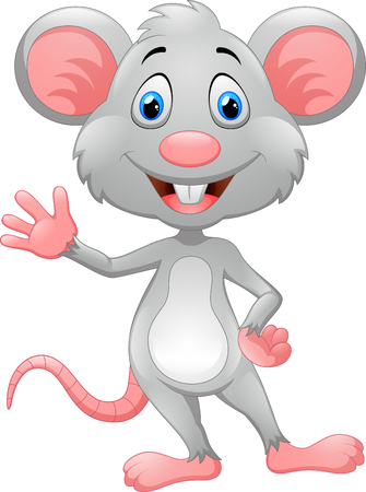 cute mouse cartoon Vettoriali