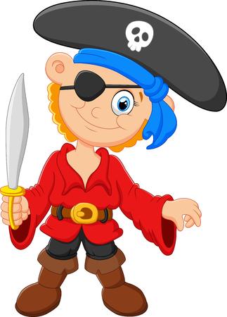 character cartoon: little pirate cartoon